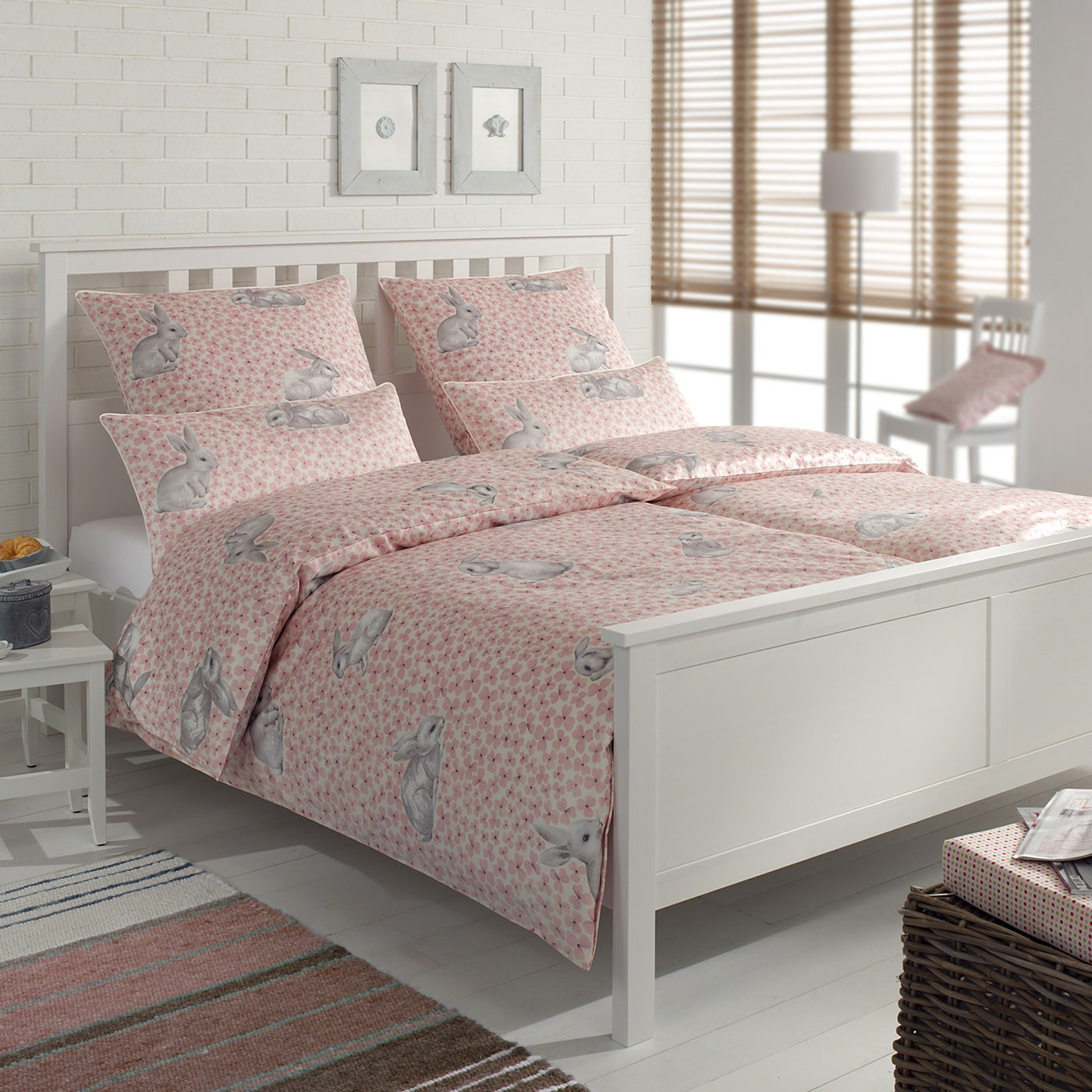 bettw sche elegante bunny 2081 rose. Black Bedroom Furniture Sets. Home Design Ideas