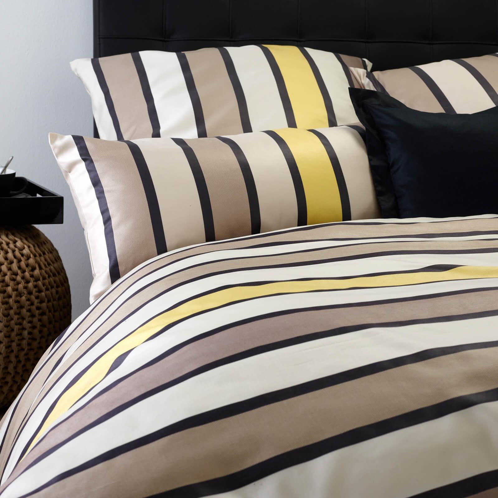 bettw sche curt bauer lodge 2491 braun gelb. Black Bedroom Furniture Sets. Home Design Ideas