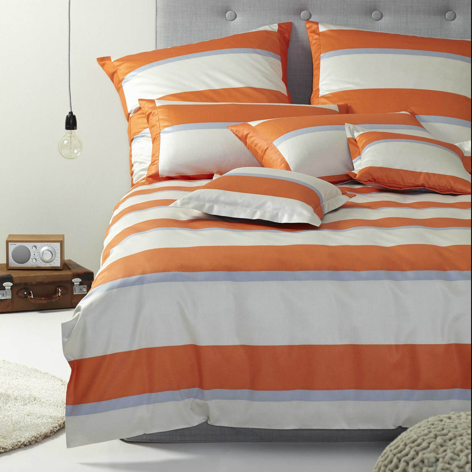 bettw sche elegante broadway 2122 orange. Black Bedroom Furniture Sets. Home Design Ideas