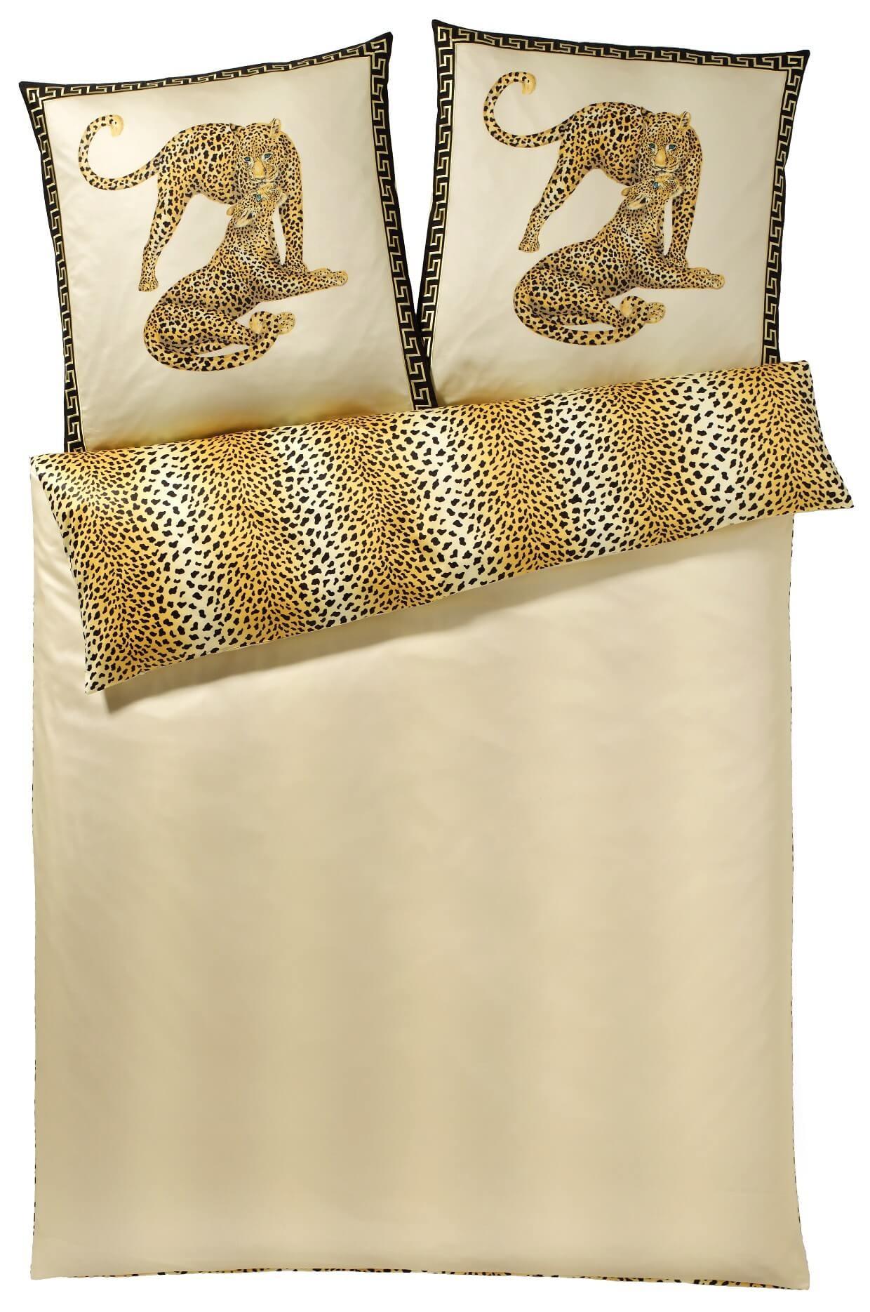 bettw sche elegante gepard pair 2352 creme. Black Bedroom Furniture Sets. Home Design Ideas