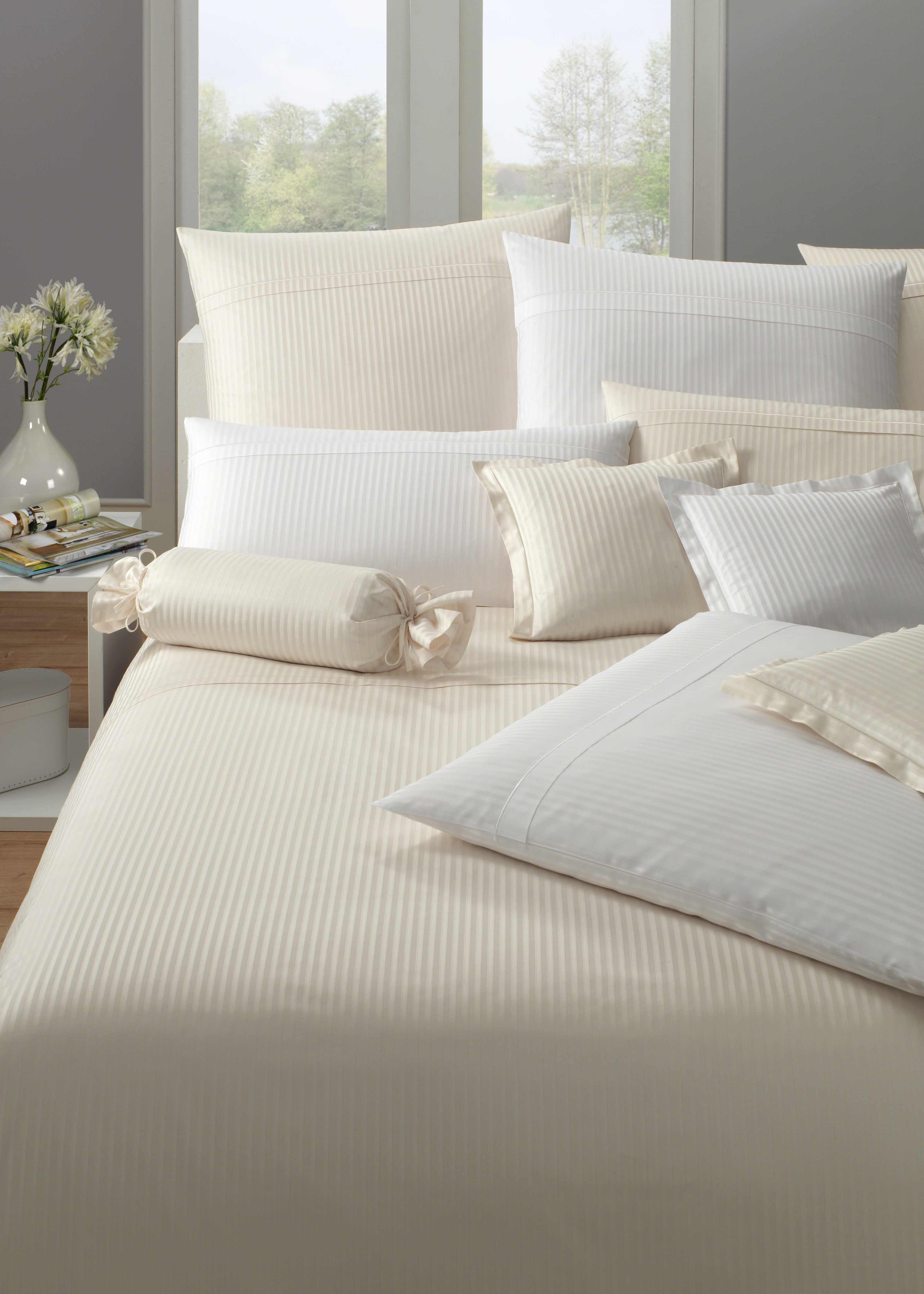 bettw sche elegante milano 2356 wei. Black Bedroom Furniture Sets. Home Design Ideas