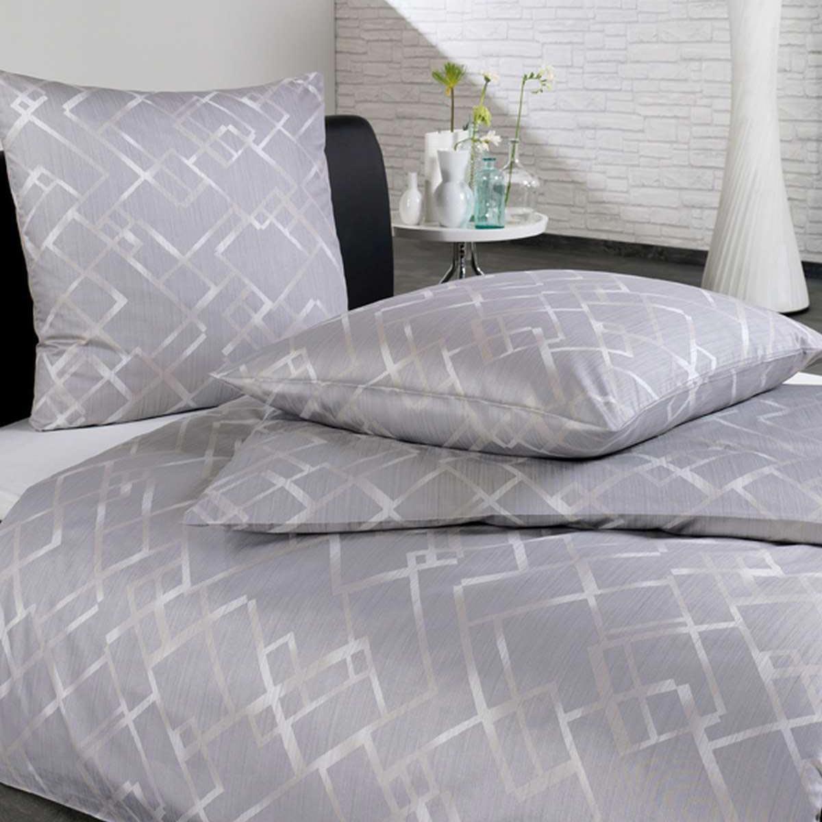 bettw sche mako satin elmin 7503 platin. Black Bedroom Furniture Sets. Home Design Ideas