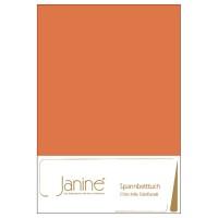 Spannbetttuch Janine Chinchilla-Edelflanell 7000 orange