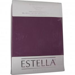 Spannbetttuch Estella Zwirn-Jersey 6900 aubergine
