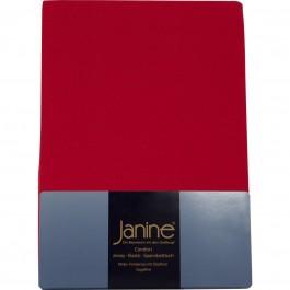 Spannbetttuch Janine Jersey 5007 rot