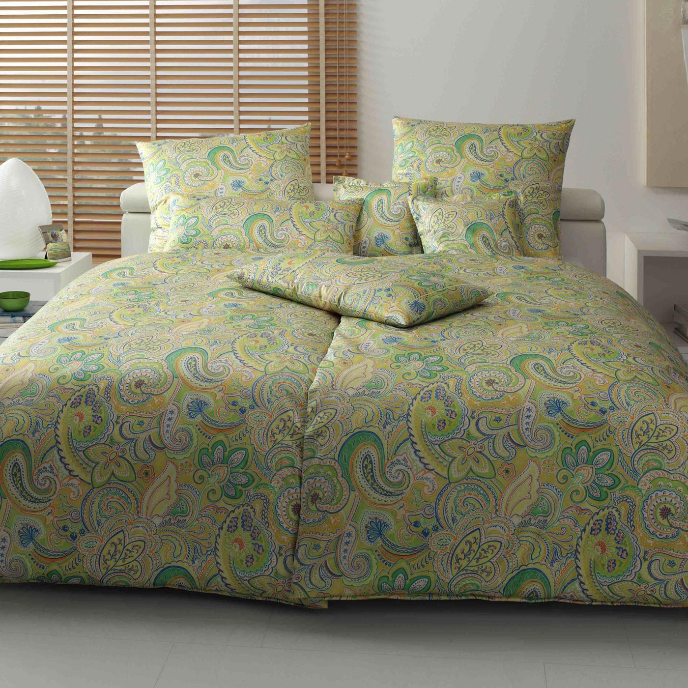 Bettwäsche Apfelgrün bettwäsche elegante caribic 2088 grün