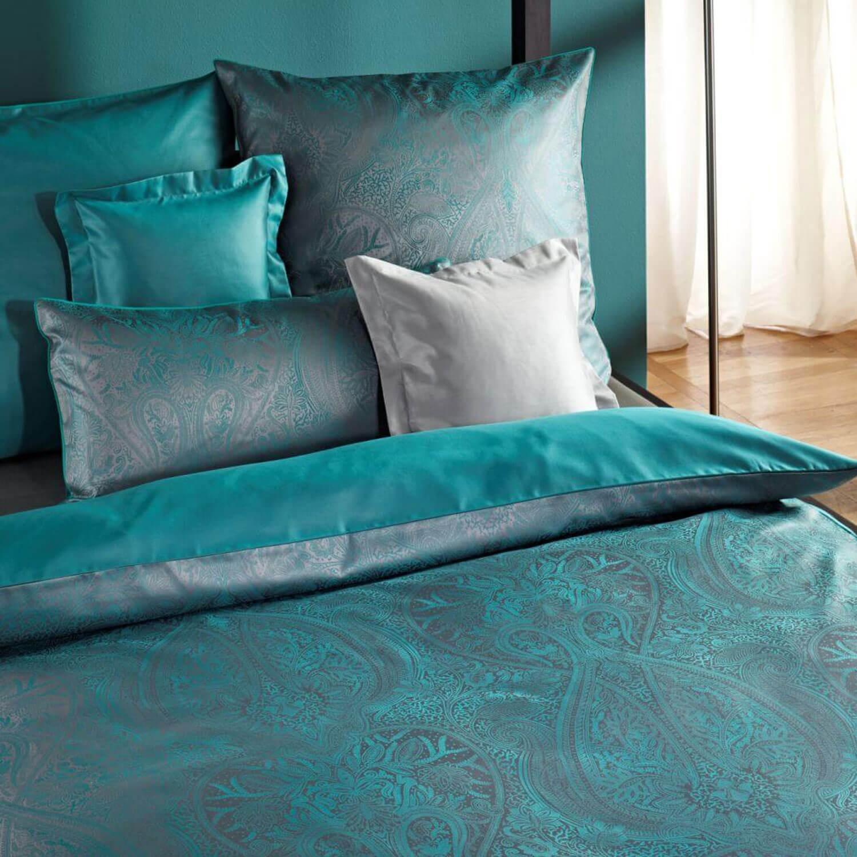 bettw sche curt bauer delhi 2481 petrol. Black Bedroom Furniture Sets. Home Design Ideas