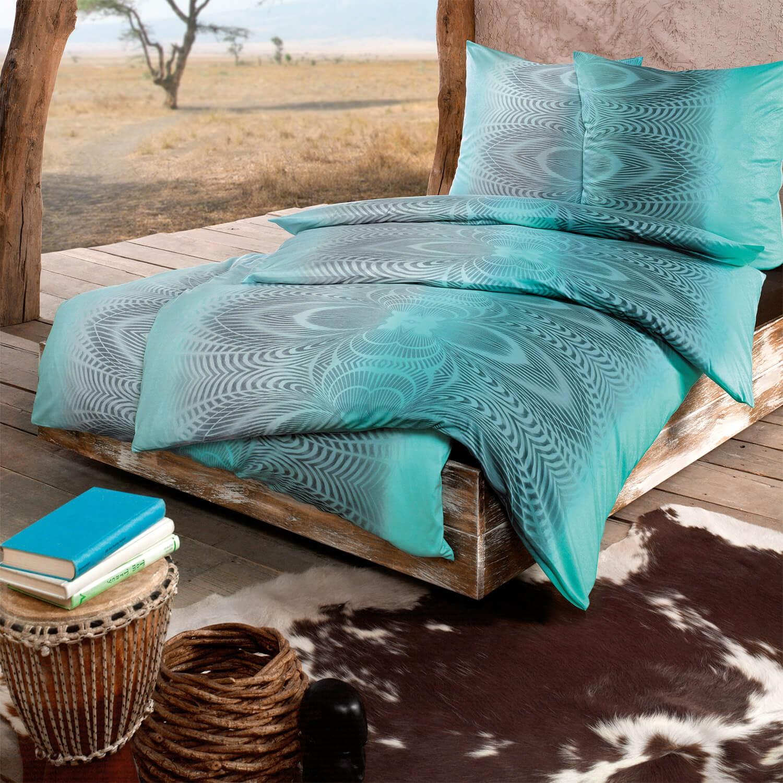 bettw sche estella africa 6702 t rkis. Black Bedroom Furniture Sets. Home Design Ideas