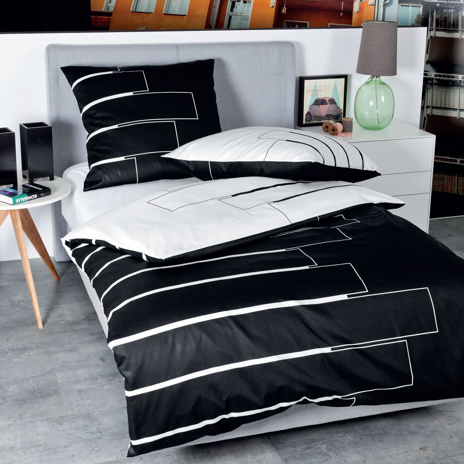 bettwsche janine simple janine bettwasche seersucker tango gra n aus weicher baumwolle das. Black Bedroom Furniture Sets. Home Design Ideas