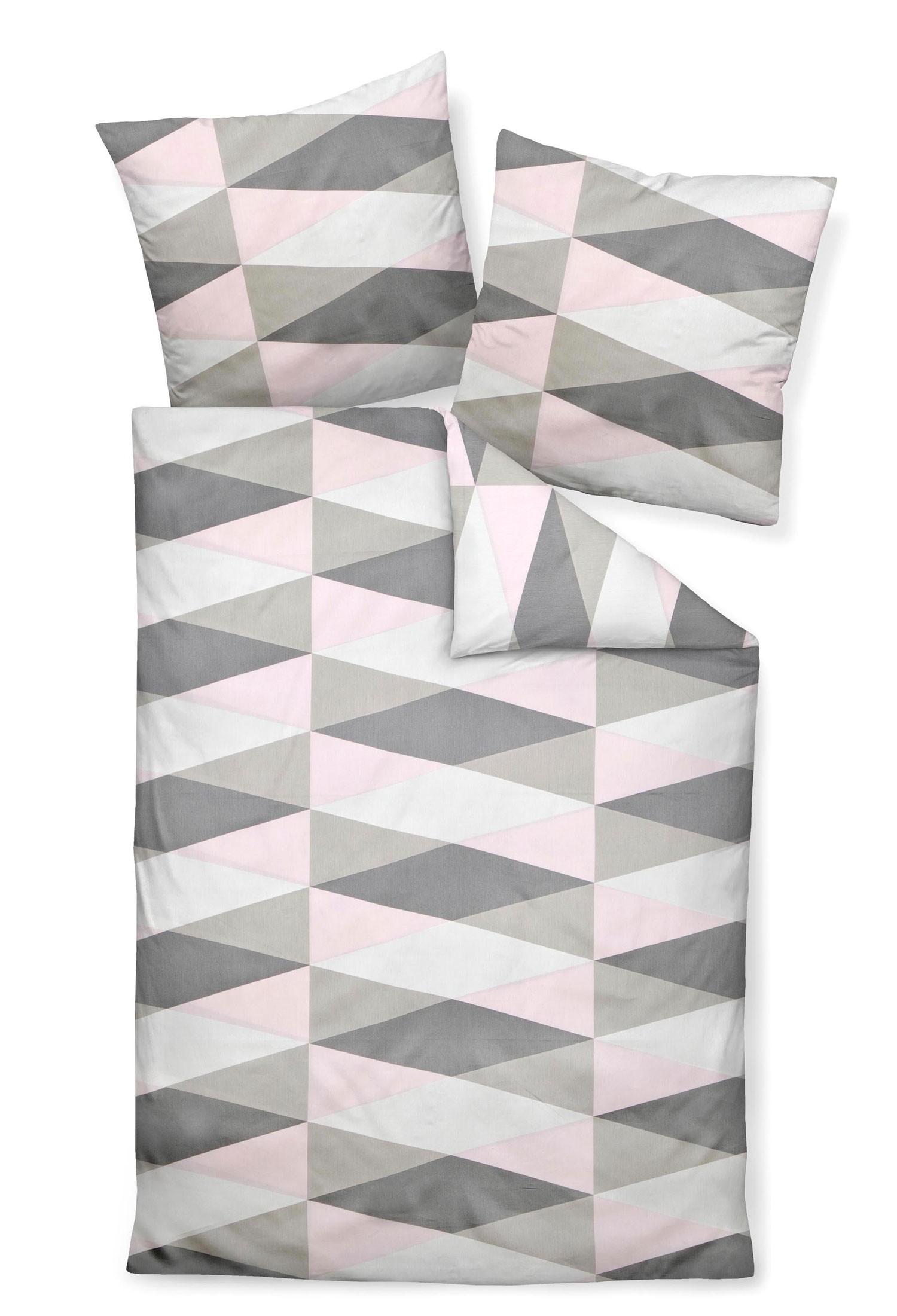 bettw sche janine j d 87014 rosa grau. Black Bedroom Furniture Sets. Home Design Ideas