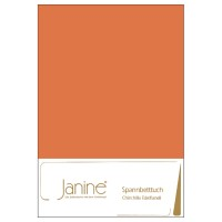 Spannbetttuch Janine Chinchilla-Edelflanell 7000 orange