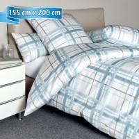 Bettwäsche Janine Carmen 53079 blau 155 cm x 200 cm