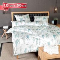 Bettwäsche Janine Carmen 53085 pastelltürkis 135 cm x 200 cm