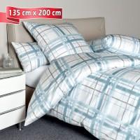 Bettwäsche Janine Messina 43079 aquarellblau grau 135 cm x 200 cm