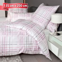 Bettwäsche Janine Messina 43079 rosa grau 135 cm x 200 cm