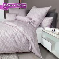 Bettwäsche Janine Messina 43087 gedämpftes violett 155 cm x 220 cm