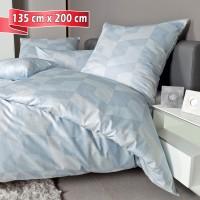 Bettwäsche Janine Messina 43088 dampfblau 135 cm x 200 cm