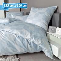 Bettwäsche Janine Messina 43088 dampfblau 155 cm x 200 cm
