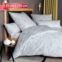 Bettwäsche Janine Messina opalgrau 135 cm x 200 cm