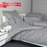 Bettwäsche Janine modernclassic 3912 schwarz 135 cm x 200 cm