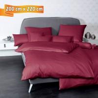 Bettwäsche Janine UNI Colors 31001 bordeaux 200 cm x 220 cm