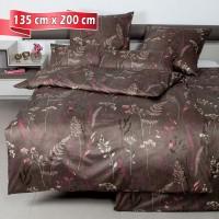 Bettwäsche Janine Messina 43100 walnuss 135 cm x 200 cm