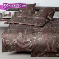 Bettwäsche Janine Messina 43100 walnuss 155 cm x 220 cm
