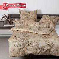 Bettwäsche Janine Messina 43109 antikbronze 135 cm x 200 cm