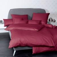 Bettwäsche Janine UNI Colors 31001 bordeaux