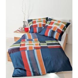 Bettwäsche Janine modern art 4130 blau-rot-orange-grün