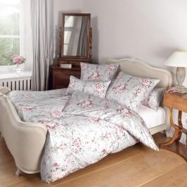 Bettwäsche Janine Romantico 46000 rosa silber