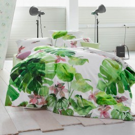 Bettwäsche Estella Leaves 4715 grün
