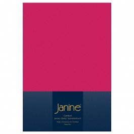Spannbetttuch Janine Elastic Jersey 5002 himbeer