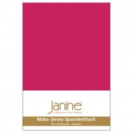 Spannbetttuch Janine Jersey 5007 himbeer
