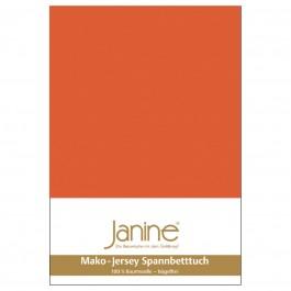 Spannbetttuch Janine Jersey 5007 mandarine