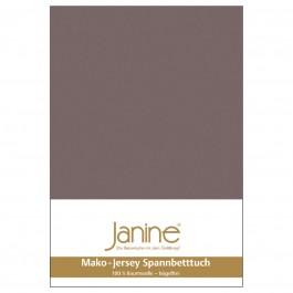 Spannbetttuch Janine Jersey 5007 cappuccino