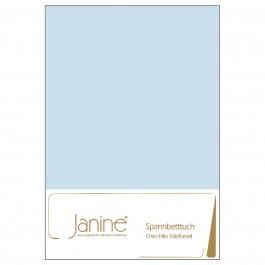 Spannbetttuch Janine Chinchilla-Edelflanell 7000 hellblau