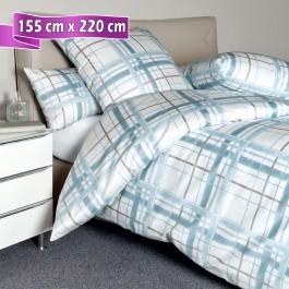 Bettwäsche Janine Carmen 53079 blau 155 cm x 220 cm