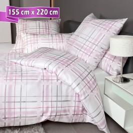 Bettwäsche Janine Carmen 53079 rosa grau 155 cm x 220 cm