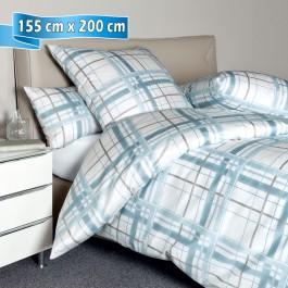 Bettwäsche Janine Messina 43079 aquarellblau grau 155 cm x 200 cm
