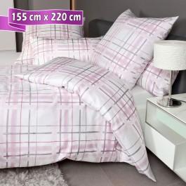 Bettwäsche Janine Messina 43079 rosa grau 155 cm x 220 cm