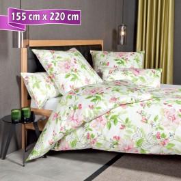 Bettwäsche Janine Messina 43082 magenta grün 155 cm x 220 cm