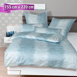 Bettwäsche Janine Messina 43084 pastelltürkis 155 cm x 220 cm