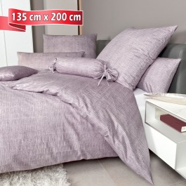 Bettwäsche Janine Messina 43086 gedämpftes violett 135 cm x 200 cm