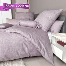 Bettwäsche Janine Messina 43086 gedämpftes violett 155 cm x 220 cm