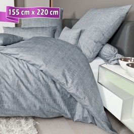 Bettwäsche Janine Messina 43086 opalgrau 155 cm x 220 cm