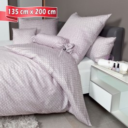 Bettwäsche Janine Messina 43087 gedämpftes violett 135 cm x 200 cm