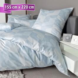 Bettwäsche Janine Messina 43088 dampfblau 155 cm x 220 cm