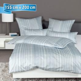Bettwäsche Janine Messina 43089 dampfblau 155 cm x 200 cm