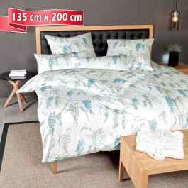 Bettwäsche Janine Messina pastelltürkis 135 cm x 200 cm